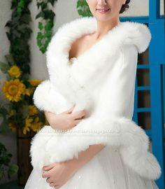 Ivory Faux Fur Mink Wrap Bridal Bolero Shawl Wedding Shrug Stole Jacket Accessories BSF107, FREE SHIPPING on Etsy, $65.95