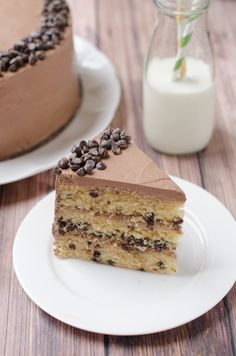 Butterscotch Chocolate Chip Cake with Fluffy Marshmallow Chocolate Frosting - The Cake Merchant