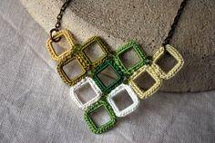 Chevron Crochet Necklace by LavenderField