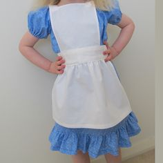 FREE Alice in Wonderland Apron Sewing Pattern and Tutorial by Threading My Way