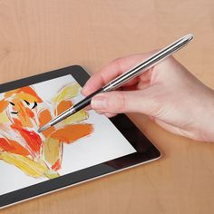 J- I loooovvvveeeee this. I have wanted to paint recently but it's so messy. This would be so cool! And would possibly help my stress and anxiety!-----The iPad Paintbrush - Hammacher Schlemmer