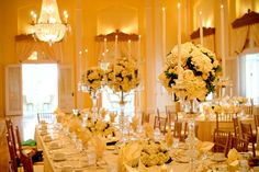 Elegant Ivory Ballroom Centerpiece | photography by http://www.olivialeighweddings.com