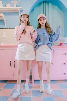 #korean, #fashion, #twin, #look