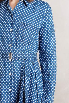 Dotted Linen Shirtdress