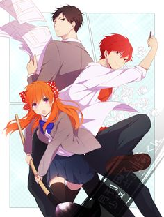 Gekkan Shoujo Nozaki-kun - This show effing killed me. Nozaki's so clueless. Manga Anime, Anime Nerd, All Anime, Me Me Me Anime, Anime Stuff, Belle Cosplay, Romance, Monthly Girls' Nozaki Kun, Gekkan Shoujo Nozaki Kun