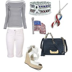 Patriotic Outfit ~ Perfect for Summer, created by generousgems on Polyvore