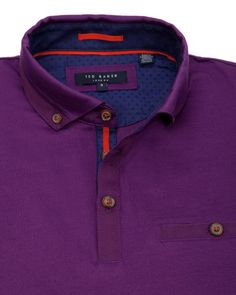 Jersey cotton polo - Purple   Tops & T-shirts   Ted Baker UK