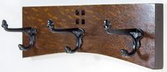 Coat Rack 14 Inch 3 Cast Iron Hook Arts And Crafts / Mission Style In…