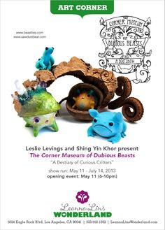 Leslie Levings and Shing Yin Khor Present The Corner Museum of Dubious Beasts