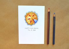 This design is also available as a greeting card: http://etsy.me/1BHcgdv    Finally, a non-sappy Valentines Day card thats perfect for the girl and
