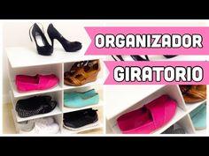 ORGANIZADOR DE CARTON PARA ZAPATOS GIRATORIO - YouTube