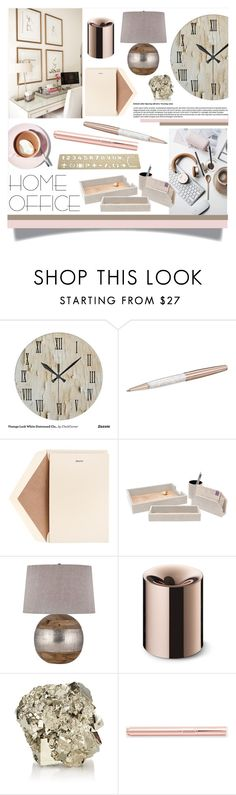 """""""Home Office"""" by oregonelegance on Polyvore featuring interior, interiors, interior design, home, home decor, interior decorating, Swarovski, Dempsey & Carroll, Martha Stewart and Pigeon & Poodle"""