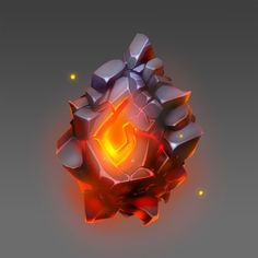 ArtStation - Elemental Stone of Fire, Jari Hirvikoski (화염의 원석) Game Character Design, Game Design, Game Art, Dungeons E Dragons, Cristal Art, Crystal Drawing, Pen & Paper, Fire And Stone, Game Props