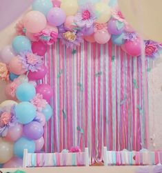ideas for birthday girl unicorn decoration Butterfly Birthday, Unicorn Birthday Parties, Unicorn Party, Baby Birthday, Diy Birthday Decorations, Balloon Decorations, Baby Shower Decorations, Shower Bebe, Baby Party