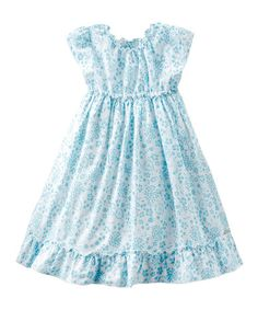 Take a look at this Aqua Floral Dress - Infant, Toddler & Girls by bellybutton on #zulily today!