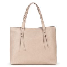 Amal Tote w/ Braided Handles - Taupe