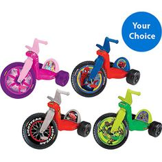 "Your Choice Licensed Original Big Wheel 16"" Racer Ride-On Tricycle @Rachael Munro"