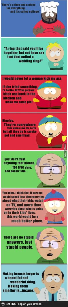 Gems of wisdom from the South Park gang