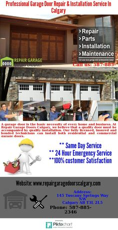 Affordable Garage Door Repair And New Installation Service In Calgary. We  Operate Quickly And Efficiently