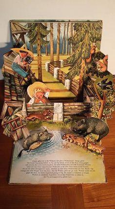 Tip Top Go Camping in German Im Walde Kid's Kubasta Vintage Pop Up Book 1962 | eBay