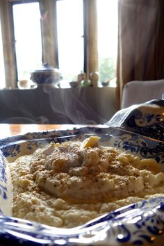 Carb Free Garlic Butter Mash - The Londoner  1 cauliflower  1 sachet of miso paste  1 clove of garlic  Lump of butter  Splash of cream  Nutmeg, salt n pepper.