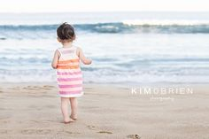 toddler girl at the beach ~ cary nc family photographer » Kim OBrien Photography
