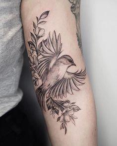 New bird tattoo blackwork ink 70 Ideas Tattoo Plume, 42 Tattoo, Shape Tattoo, Piercing Tattoo, Star Tattoos, Finger Tattoos, Body Art Tattoos, Bird Tattoo Sleeves, Sleeve Tattoos For Women