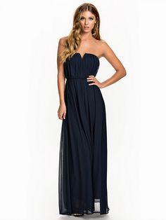 Zwarte lange jurk nelly