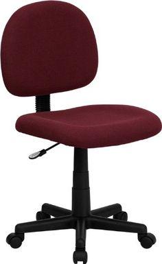 Comfortscape Low Back Burgundy Fabric Swivel Task Chair