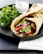Shawarma i arabiske fladbrød
