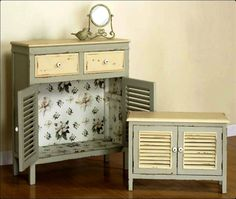 cute shabby chic cupboards