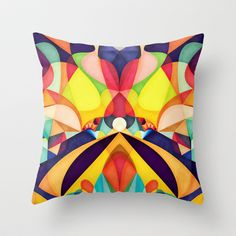 Poetry Geometry Throw Pillow by Anai Greog - $20.00