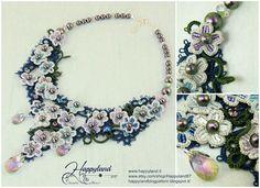 Hydrangea  tatted necklace pattern