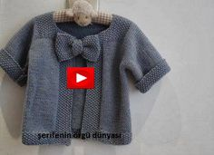 Free knitting pattern - baby cardigan complete with a bow! Knitting For Kids, Baby Knitting Patterns, Crochet For Kids, Baby Patterns, Crochet Baby, Knit Crochet, Free Knitting, Cardigan Pattern, Crochet Cardigan