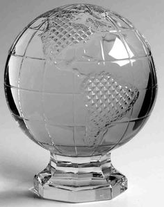 Crystal World Globe Paperweight! ...