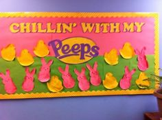 Easter Bulletin Board Ideas which are incredibly sweet & oh! so cute - Easter Bulletin Board Ideas - Cafeteria Bulletin Boards, Easter Bulletin Boards, Preschool Bulletin Boards, Classroom Bulletin Boards, Classroom Door, April Bulletin Board Ideas, Classroom Ideas, Bullentin Boards, Future Classroom