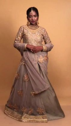 Muted tones have their own way of highlighting the golden threads of zari . For more information tap below the given link:
