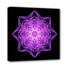 Canvas print fractal Stardust purple - also for sale on www.etsy.com/shop/droomcreaties
