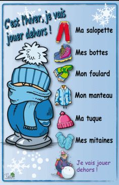C'est l'hiver, je vais jouer dehors French Poems, Jouer, Craft Activities, Slime, Winter, Crafts, Baby, Photos, Childrens Winter Coats