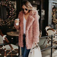 c59f6e6fe72 Women Winter Jacket Coat Faux Fur Teddy Bear Coat