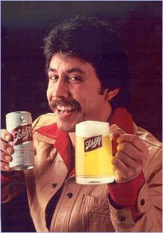 What's better...the beer or the 'stache...playa!