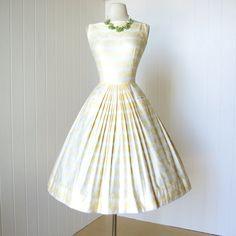 vintage 1950's dress ...gorgeous JEANNE D'ARC fine by traven7