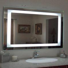 Ktaxon Anti-fog Wall Mounted Lighted Vanity Mirror LED Bathroom Mirror Anti Fog and Waterproof,Rectangle Lighted Vanity Mirror, Vanity Set With Mirror, Led Mirror, Backlit Mirror, Diy Vanity, Single Bathroom Vanity, Mirror Bathroom, Bathroom Ideas, Master Bathroom