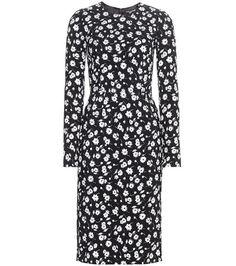 ¡Cómpralo ya!. Floral-printed Dress. Black And White Floral-printed Dress By Dolce & Gabbana , vestidoinformal, casual, informales, informal, day, kleidcasual, vestidoinformal, robeinformelle, vestitoinformale, día. Vestido informal  de mujer color negro de Dolce & gabbana.