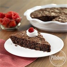 Raspberry Brownies from Pillsbury® Baking