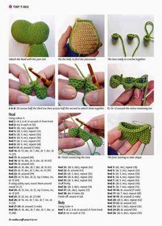 Best 12 Best 11 Amigurumi t rex dinazor free pattern – Artofit – Page 834643743421386785 – SkillOfKing.Com – SkillOfKing. Crochet Turtle Pattern, Crochet Dinosaur Patterns, Crochet Doll Pattern, Crochet Patterns Amigurumi, Diy Crochet, Crochet Toys, Crochet Baby, Crochet Animals, T Rex