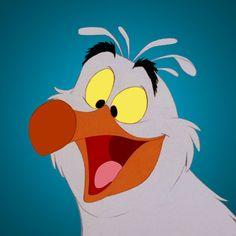 """Scuttle"" (voiced by Buddy Hackett), The Little Mermaid"