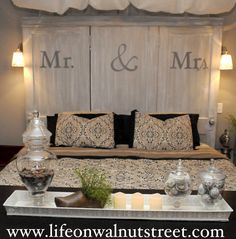 If we get the doors/windows like I am planning and use them for the ceremony backdrop, I totally want to repurpose them as a headboard/wall decore for our bedroom! Fabulous idea!