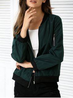 SHARE & Get it FREE   Long Sleeve Zipper Design Pocket JacketFor Fashion…
