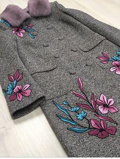 #Вышивка #пальто